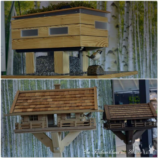 Vogelfutterhaus auf der Gartenmesse