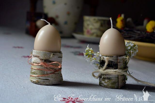 Rustikale Eierbecher