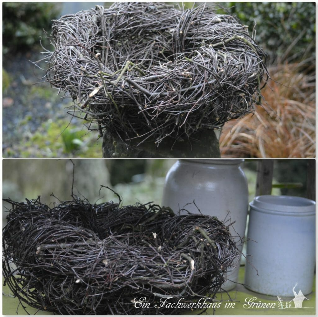 Nest aus Zweigen