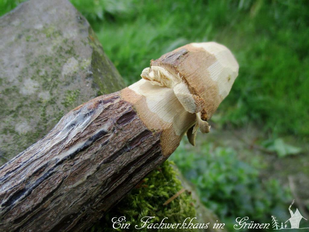 Dekopilz, DIY, Gartenblog, Pilz aus Holz