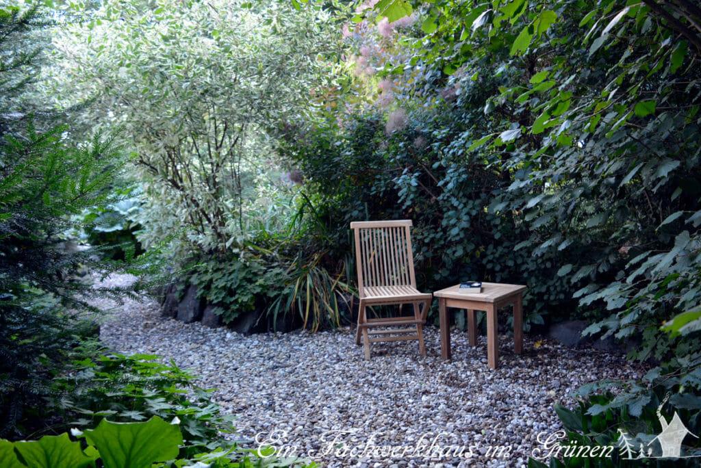 Sitzplatz in unserem Garten