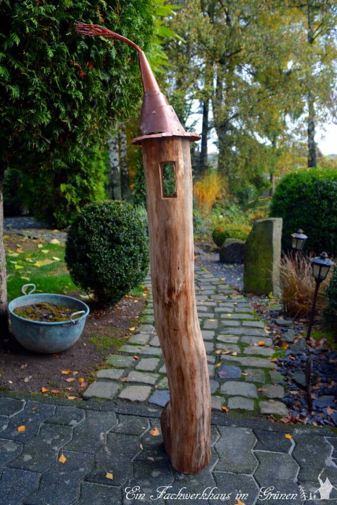 Ein Windlicht für den Garten. Gartendeko selbst gemacht.