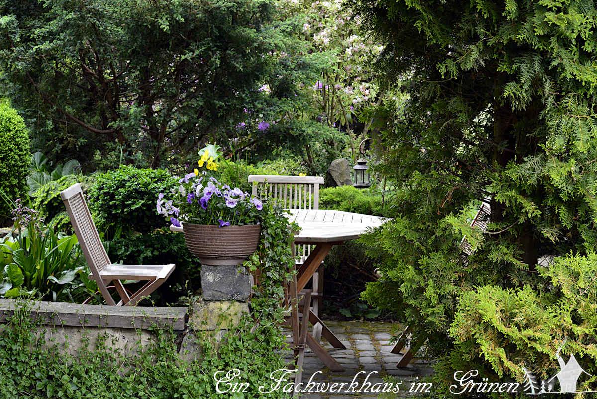 Möbel für den Garten. Unser Sitzplatz.