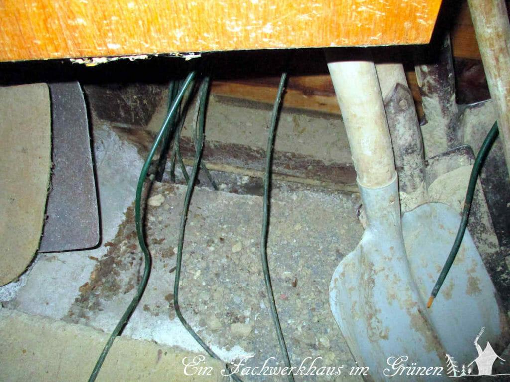 Ein Mauseloch im Schuppenhaus.