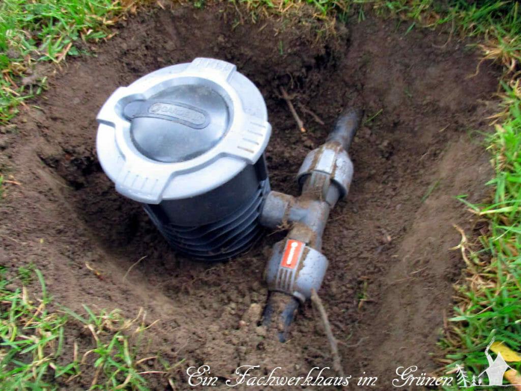 An einem anderen Samstag habe ich dann eine neue Wassersteckdose eingegraben.