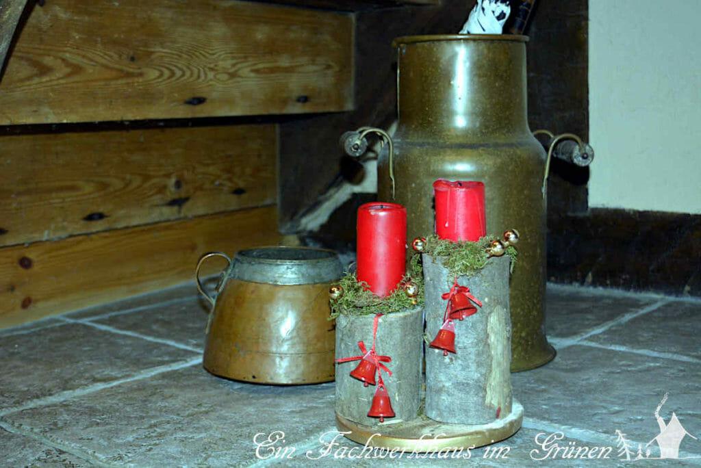 Kerzen sind nicht nur in der Adventszeit eine gute Idee. Unser selbst gebastelter Kerzenständer.