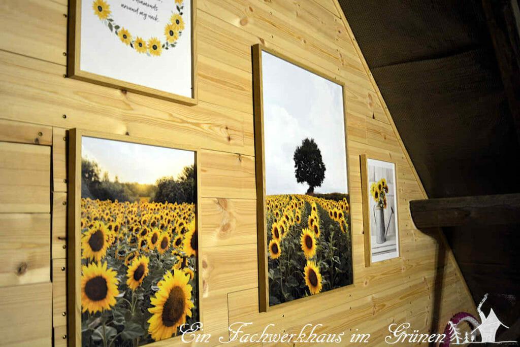 Sonnenblumen für den Fitnessraum.